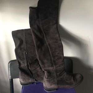 Stuart Weitzman suede over the knee boots, 7.5M